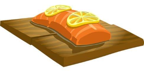 Лосось с лимоном